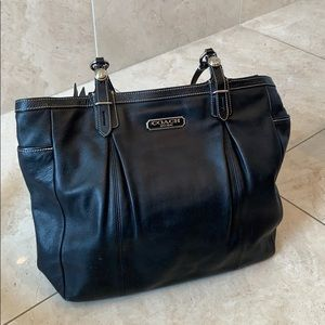 Black Coach leather purse